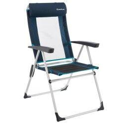 Campingsessel mit verstellbarer Rückenlehne blau
