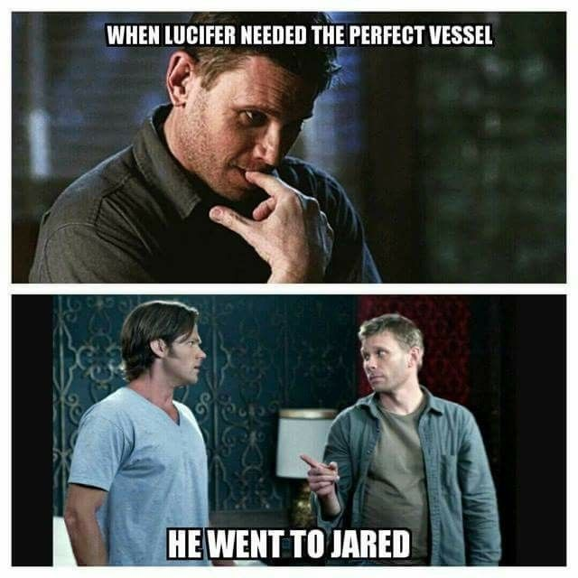 ...He went to Jared! Who made this?! Lmao! #Supernatural