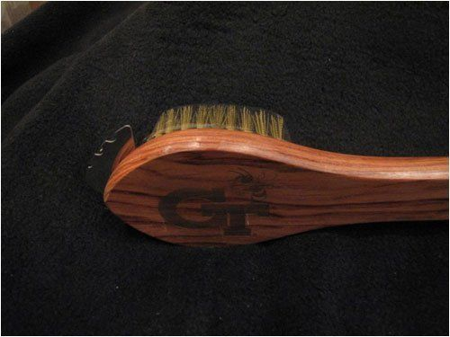 Sports Chest GT-BRUSH Georgia Tech Grill Brush by Sports Chest. $21.00. Great Gift Idea.. Design is stylish and innovative. Satisfaction Ensured.. Manufactured to the Highest Quality Available.. Our spatulas, tongs, spoons, and grill brushes are 19 inches in length with pure rosewood handles and stainless steel rivets. The blades are pure stainless steel and 1/16 Inch thick. The exception is the cooking paddle which is 3ft in length.