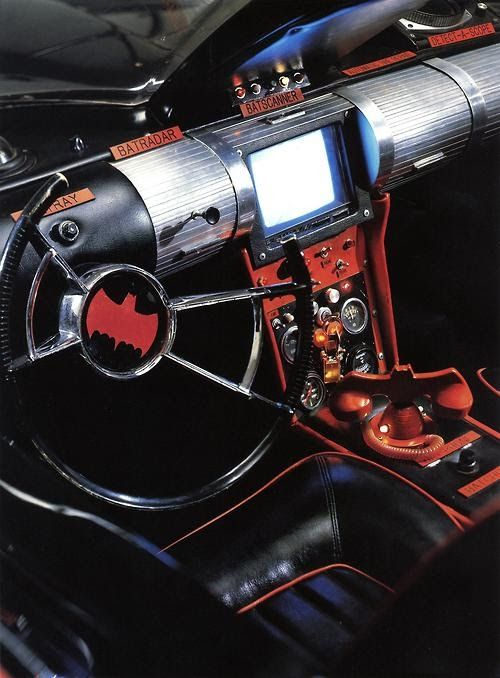 Batmobile Dashboard - Batman TV series (1966-68).