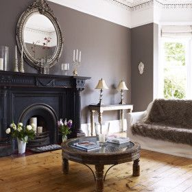 Lansdown House - Regency Town House in Cheltenham - Kate & Tom's - Fireplace decorated with candles
