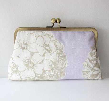 Lilac Clutch / Bridesmaid Clutch / Bridesmaid
