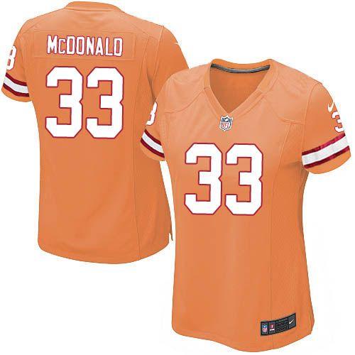 Women Nike Tampa Bay Buccaneers #33 Brandon McDonald Limited Orange Glaze Alternate NFL Jersey Sale
