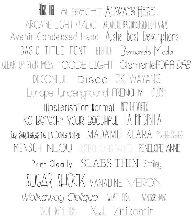 Searching for the best skinny fonts to use with #Silhouette? Look no further! Here is a list of #FREE fonts that look like a single line!   It's Always Ruetten