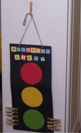 Stop Light Behavior Chart. Green-good behavior. Yellow-warning. Red-Discipline.