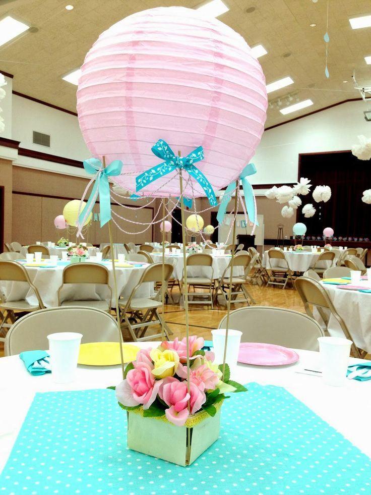 7 centros de mesa para baby shower
