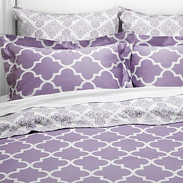 purple dorm bedding