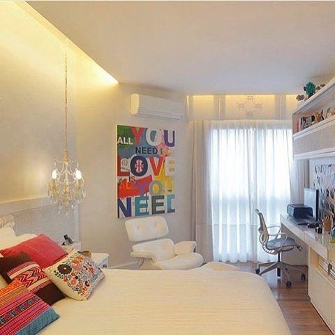 Lindo esse quarto, me apaixonei! Por Paola Oliveira via @decorcriative