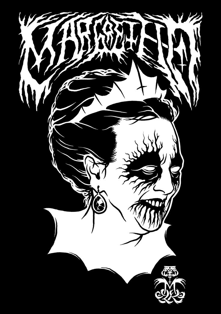 'Margrethe II of Denmark' Black Metal edition  www.totcph.com