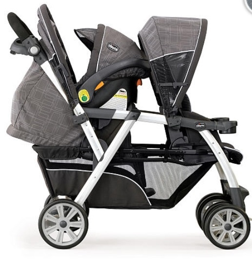Chico Cortina Double Stroller Cubes 300 Bru Anna S