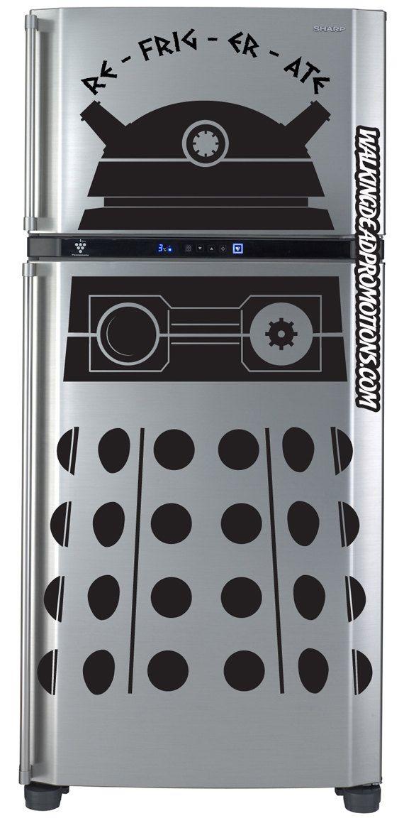 Dalek refrigerator decal; RE-FRIG-ER-ATE!