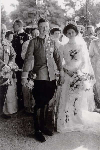 Wedding of Archduke Charles of Austria and Princess Zita of Bourbon-Parma in Schwarzau Palace. On the 21st of October, 1911.