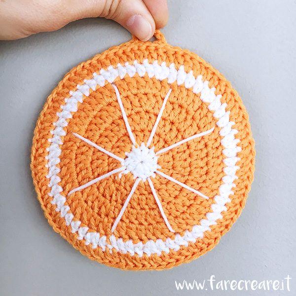 Presina a forma di arancia uncinetto idee creative per for Idee creative uncinetto