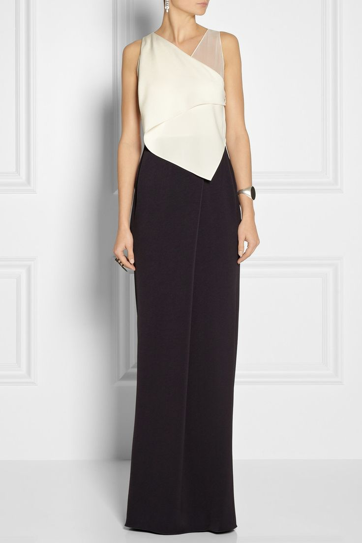 3.1 Phillip Lim Silk chiffon-trimmed crepe gown