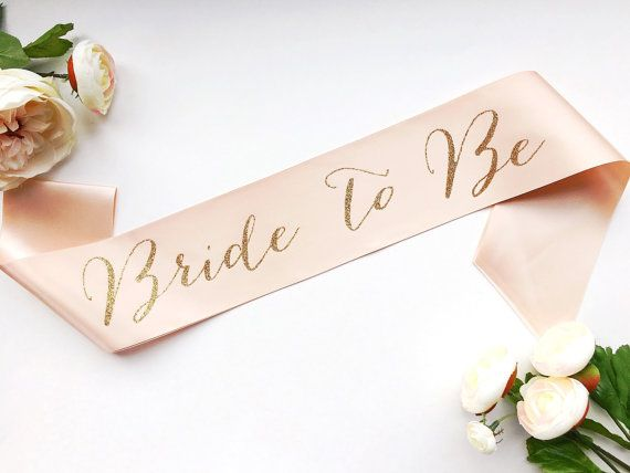 Bride to Be Sash Bachelorette Sash Bridal by ShadesOfPinkBtq