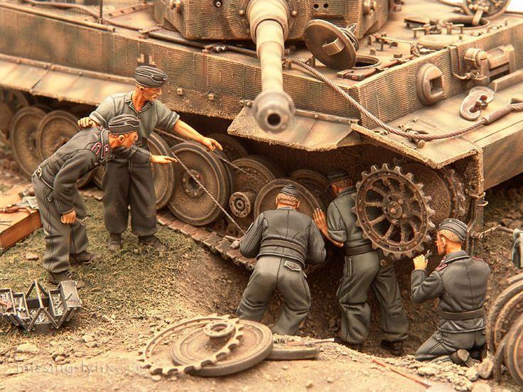 Tank diorama