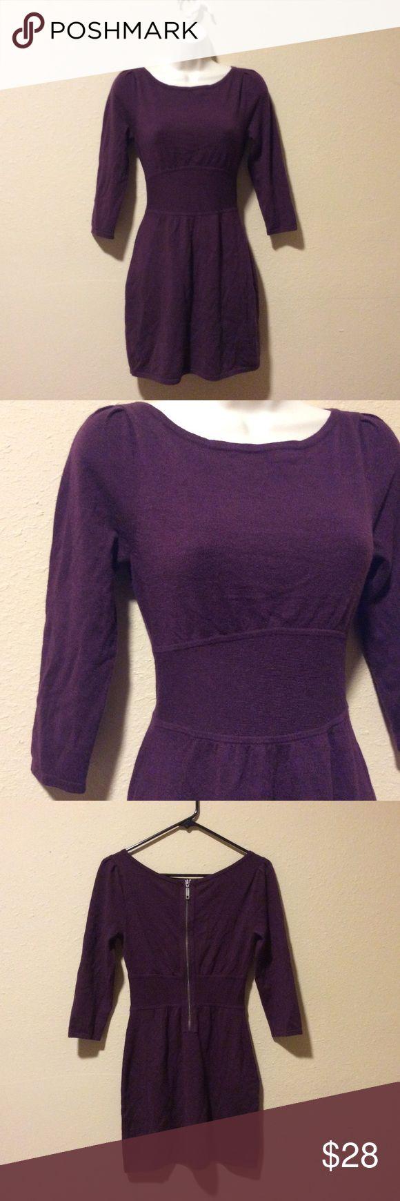Express Burgundy Sweater Dress Express Burgundy Sweater Dress. No tags but never worn! Express Dresses Mini
