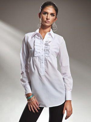 Стильные белые женские рубашки на 2016 год: фото модных и красивых моделей
