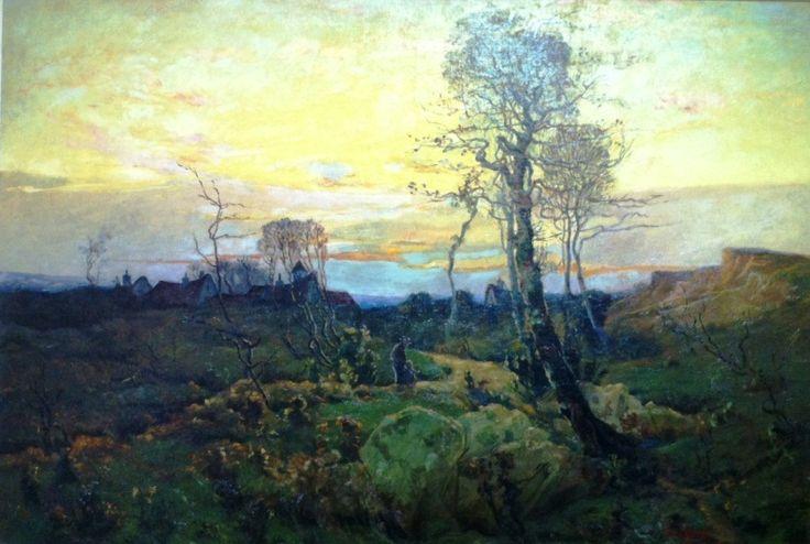 """Marc-Aurèle de Foy Suzor-Côté, """"Paysage d'automne,"""" huile sur toile, 36"""" x 48"""""""