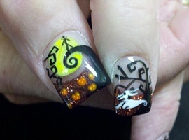 Nightmare Before Christmas nail art from NAILS Magazine!