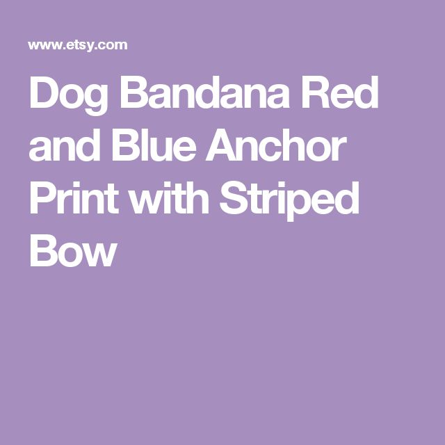 Dog Bandana  Red and Blue Anchor Print with Striped Bow