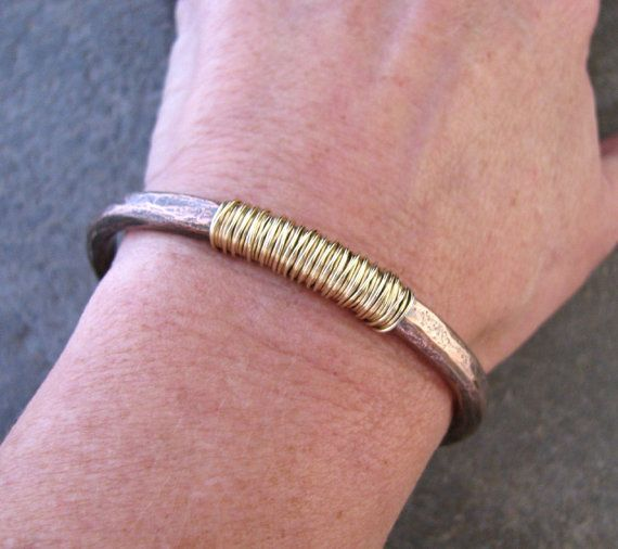 Wire Bracelets With Charms 2: Copper Cuff, Gauges And Etsy