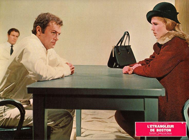 Tony Curtis as Albert DeSalvo, and Carolyn Conwell as Irmgard DeSalvo [The Boston Strangler, 1968]