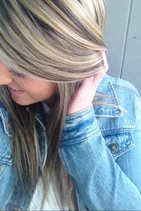 Lots of blonde highlights. I got red highlights put into ...