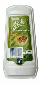Glade Solid Gel Air Freshener 150g Cashmere Woods Limited Edition Long lasting freshness. Solid gel air freshener with a cashmere woods limited edition fragrance.