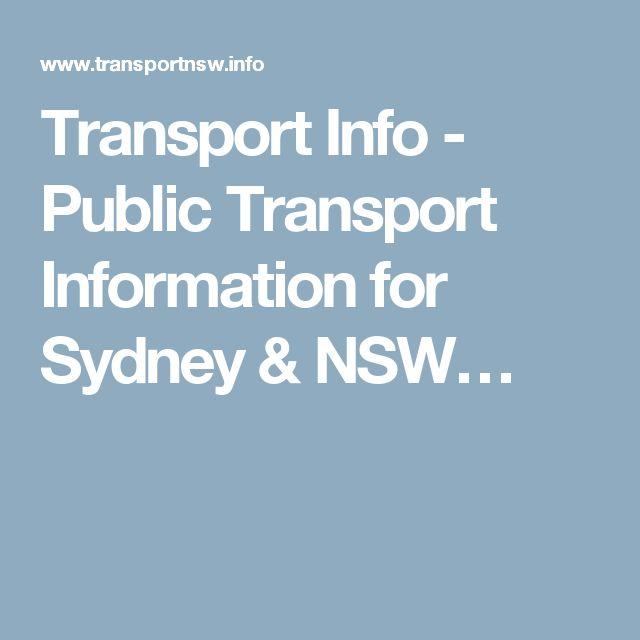 Transport Info - Public Transport Information for Sydney & NSW…