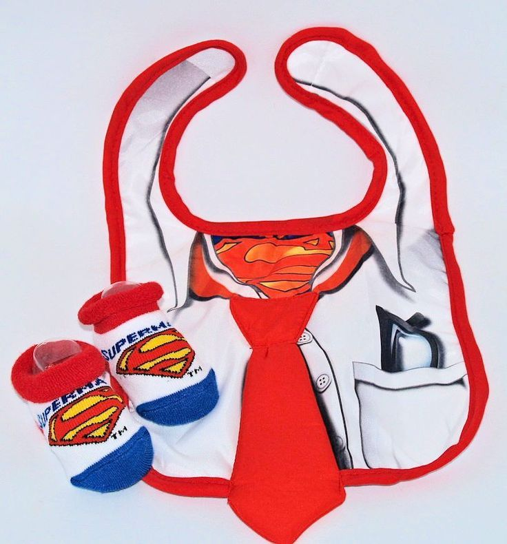 Babies Superman Bib And Bootie Set Infant Feeding Baby Gift One Size  #boogityboogityboo