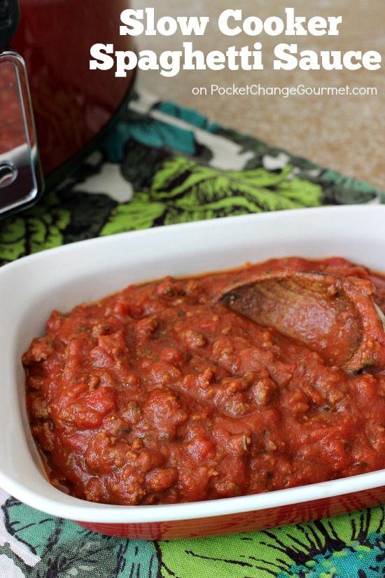 Slow cooker spaghetti sauce, Slow cooker spaghetti and Spaghetti on ...