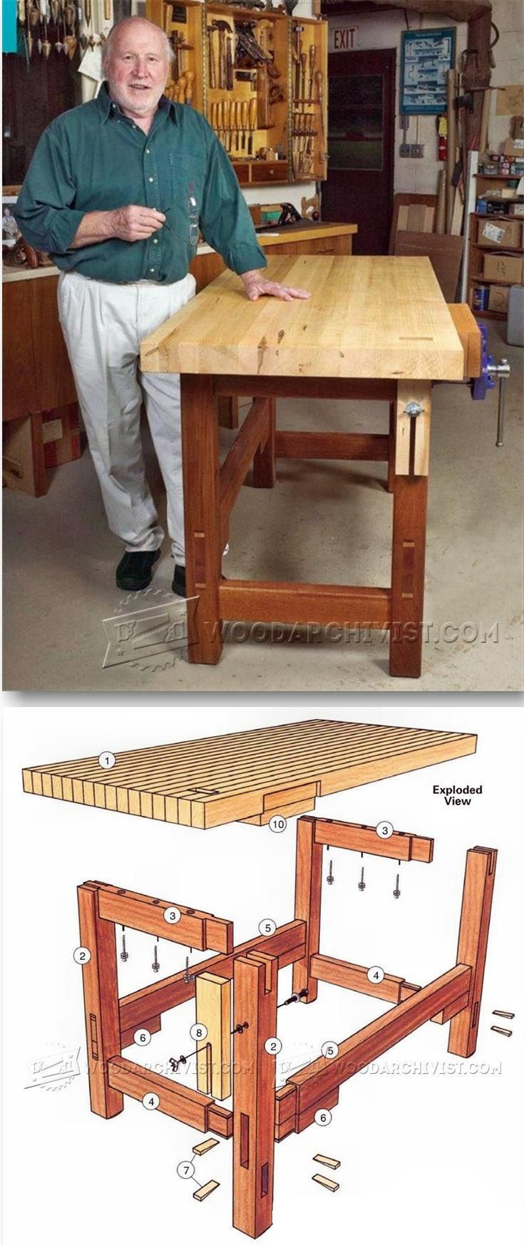 Workbench Plans - Workshop Solutions Projects, Tips and Tricks | WoodArchivist.com