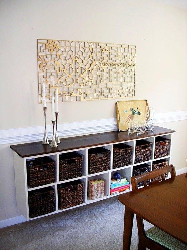 Design Itch: BEFORE, DURING & AFTER: Floating Cubby Buffet
