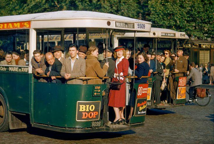 Bus à Paris, années 50