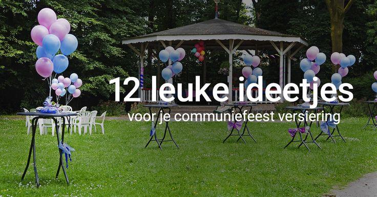 12 leuke ideetjes voor je communiefeest versiering! #communie #decoratie #tafeldecoratie #inspiratie