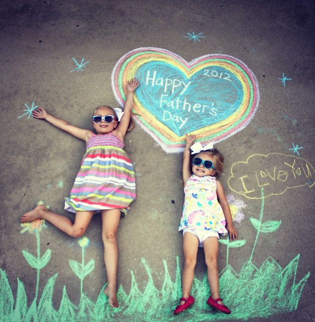 Mother's or Father's Day Photo. What a cute idea, a great gift as the driveway will continue to give the message for Dad til it wears off!