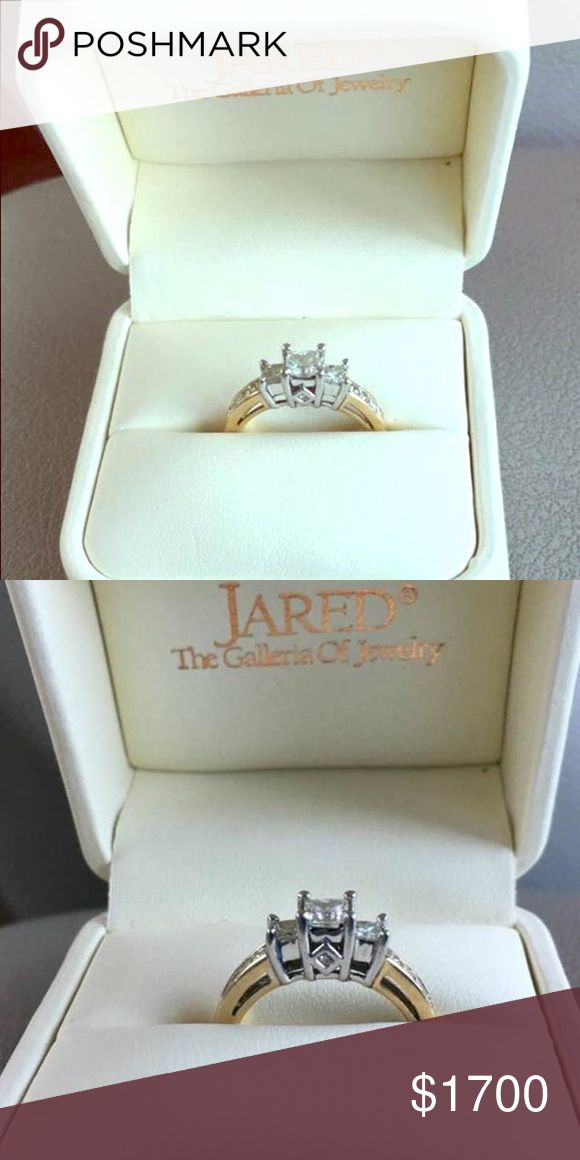 Nice worn twice engagement ring/promise ring A beautiful engagement ring. A great promise ring or starter ring for new couples wanting to be engaged. Asking for half its worth.  OBO. 1ct total princess cut Jared Jewelry Rings