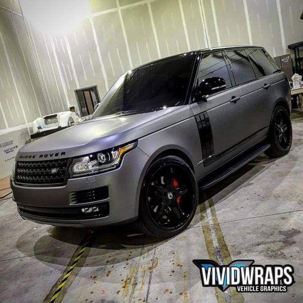 This wrap On The Range Rover Is Rad In 3m Matte Dark