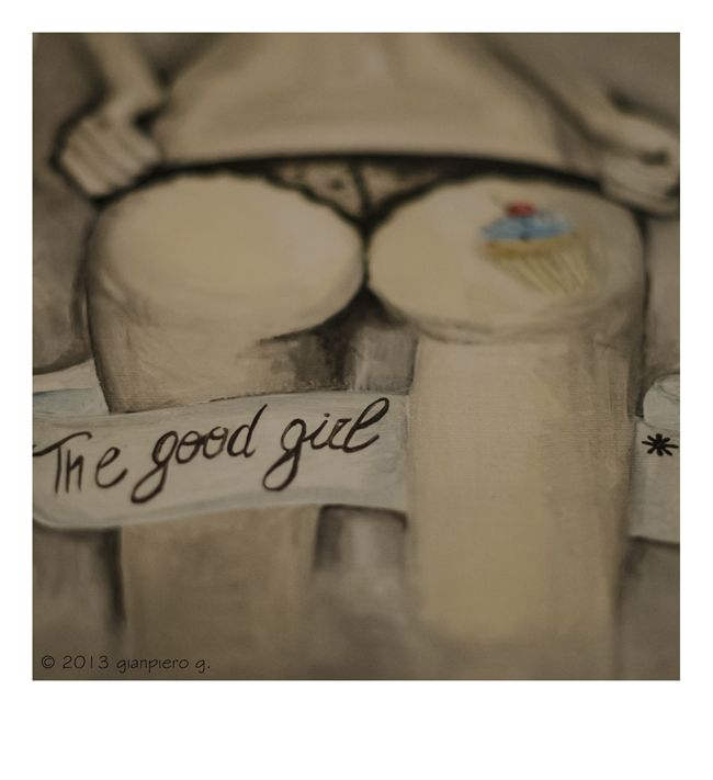 """The Good Girl"", 30x40, acrilico su tela, 2013 Fotografo Gianpiero Galimberti Solo Exhibition ""Your Judgement is Irrelevant"" www.drunkenrabbit.jimdo.com"