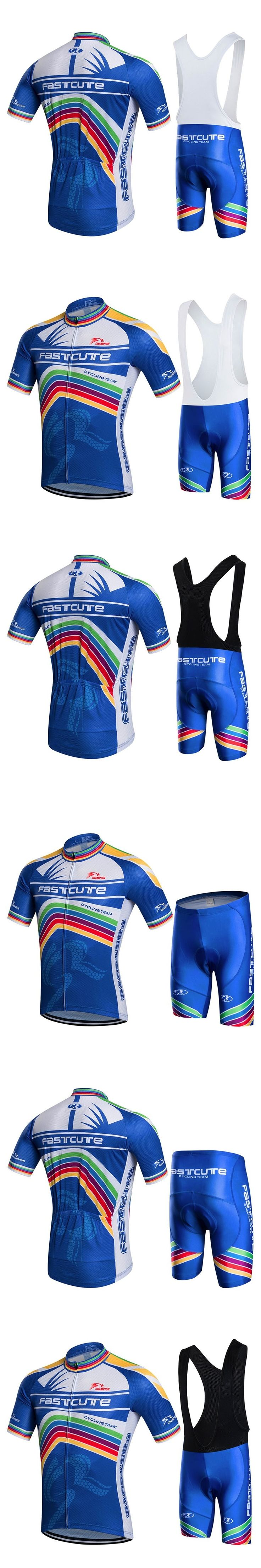 FASTCUTE Cycling Jersey Multicolor Bicycle Bike Short Sleeve Sportswear Cycling Clothing maillot Cycling Jerseys short men