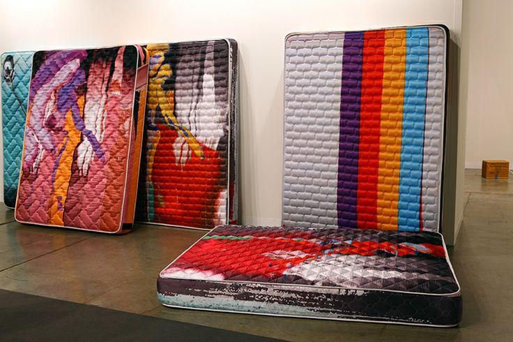 Guyton\\ Walker; Untitled; 2013. Mattress; 203.2 x 152.4 x 20.3 cm. Greene Naftali