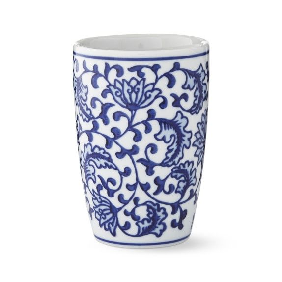 Blue And White Ceramic Toothbrush Holder In 2020 Ceramic Toothbrush Holder Ceramic Soap Dispenser White Ceramics