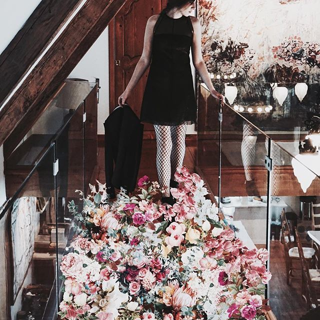 She Walks on a Bed of Flowers 🌺  #mariesaintpierre #creativebyinstinct