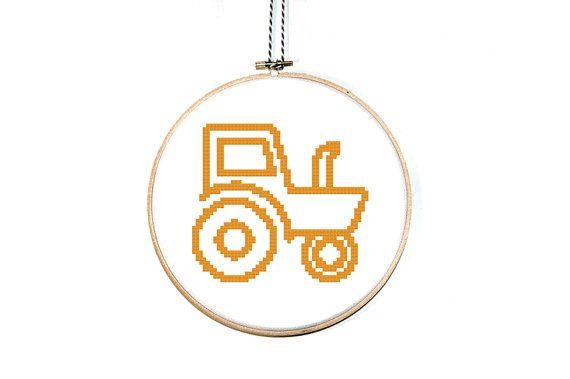 Tractor Cross Stitch pattern tractor icon. by AlphabetCrossStitch, €3.99