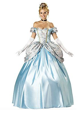 Cosplay Kostuums / Feestkostuum Prinses / Dieren / Sprookje Festival/Feestdagen Halloween Kostuums Wit / Blauw Vintage KledingHalloween /