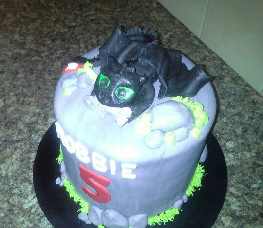 Toothless- How to Train a Dragon cake