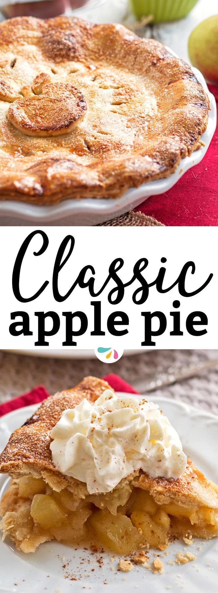 Have you ever made a classic apple pie for Thanksgiving before? This recipe for homemade apple pie is the absolutely best! An easy homemade cooked filling is baked in a from scratch crumbly crust for the ultimate Pioneer Woman holiday experience. This is the dessert everybody will be raving about after your next family party this fall - sometimes the most simple evergreens are the ones everybody loves most. | #thanksgiving #holidays #applepie #baking #fall #dessert #apples #recipe #pie