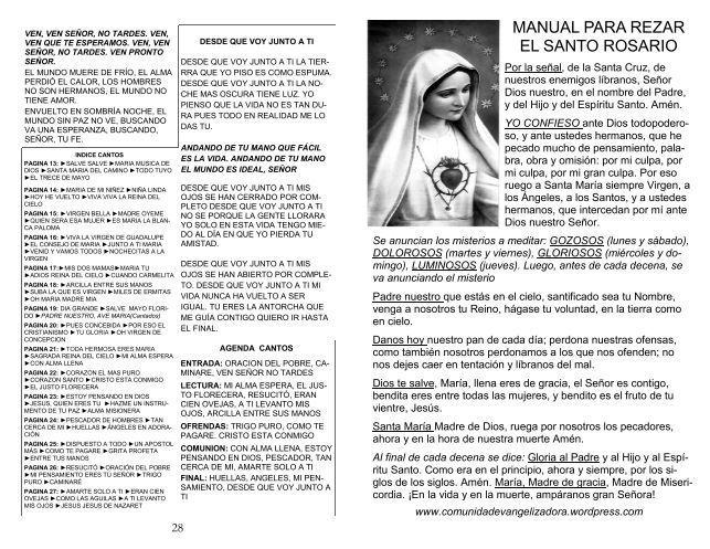 Para Descargar Manual Para Rezar El Rosario En Formato Pdf Rezar El Rosario Recemos El Santo Rosario Rosarios