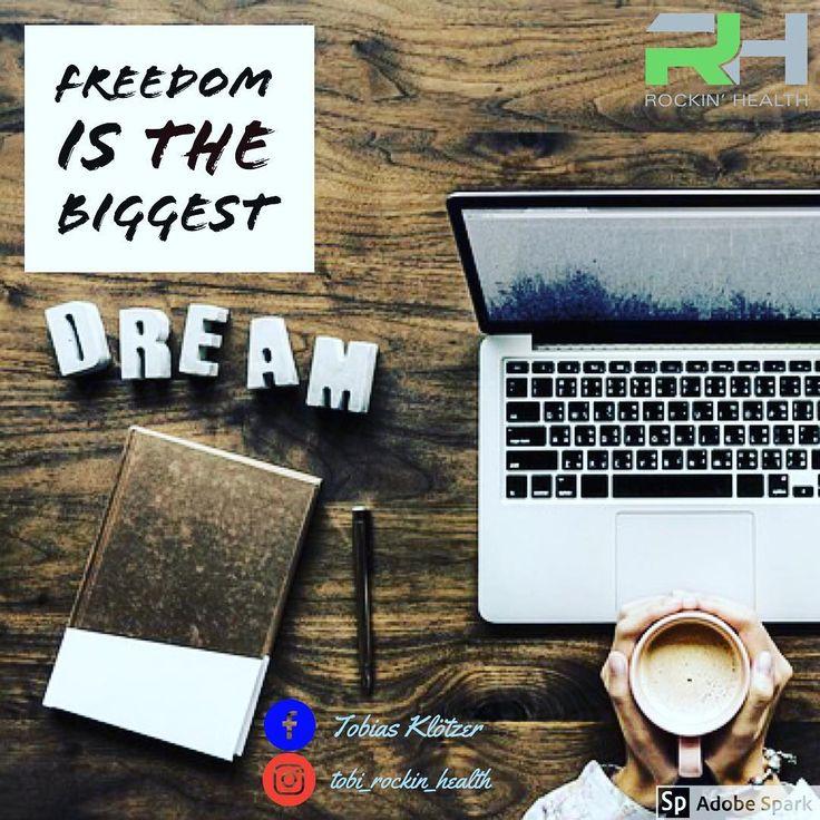 Freedom is the biggest DREAM Wer träumt nicht von der Freiheit  Jeder definiert Freiheit für sich anders... Für den einen gilt sie finanziell  Für den anderen eher Zeitlich Der nächste will sein eigener Herr sein  Was ist für euch Freiheit?  Was wäre wenn wir alle Punkte miteinander verbunden bekommen?                   #rockinhealth #motivation #freiheit #freedom #dream #träume #business #businessfamily